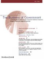 Business of Government Fall 1999