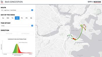 Boston Bus Congestion Map